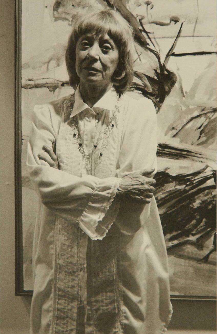 Elaine de Kooning, 1984 Photo: Walter Weissman