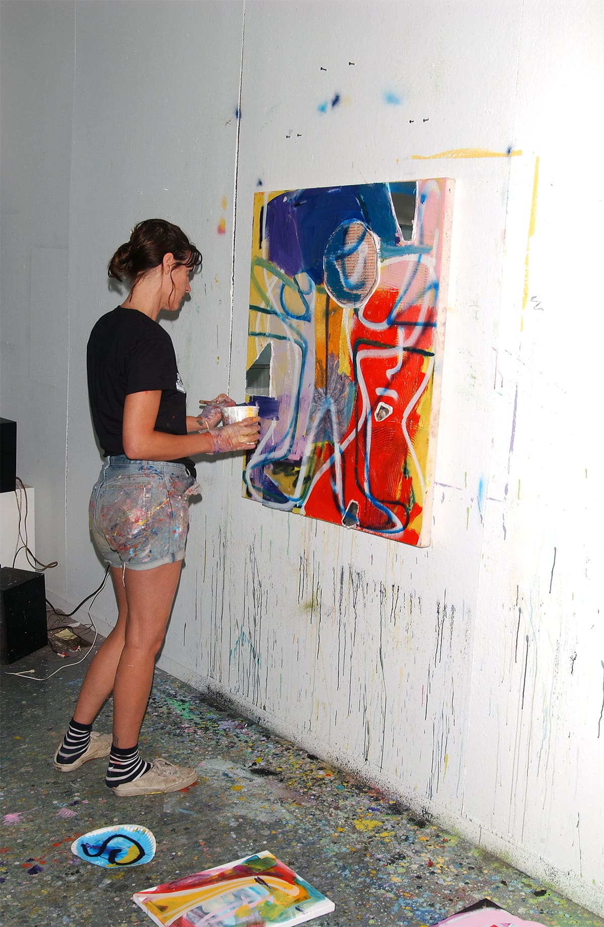 Artist Sadie Laska during her artist in residency at the former home and art studio of Elaine de Kooning in East Hampton, NY.